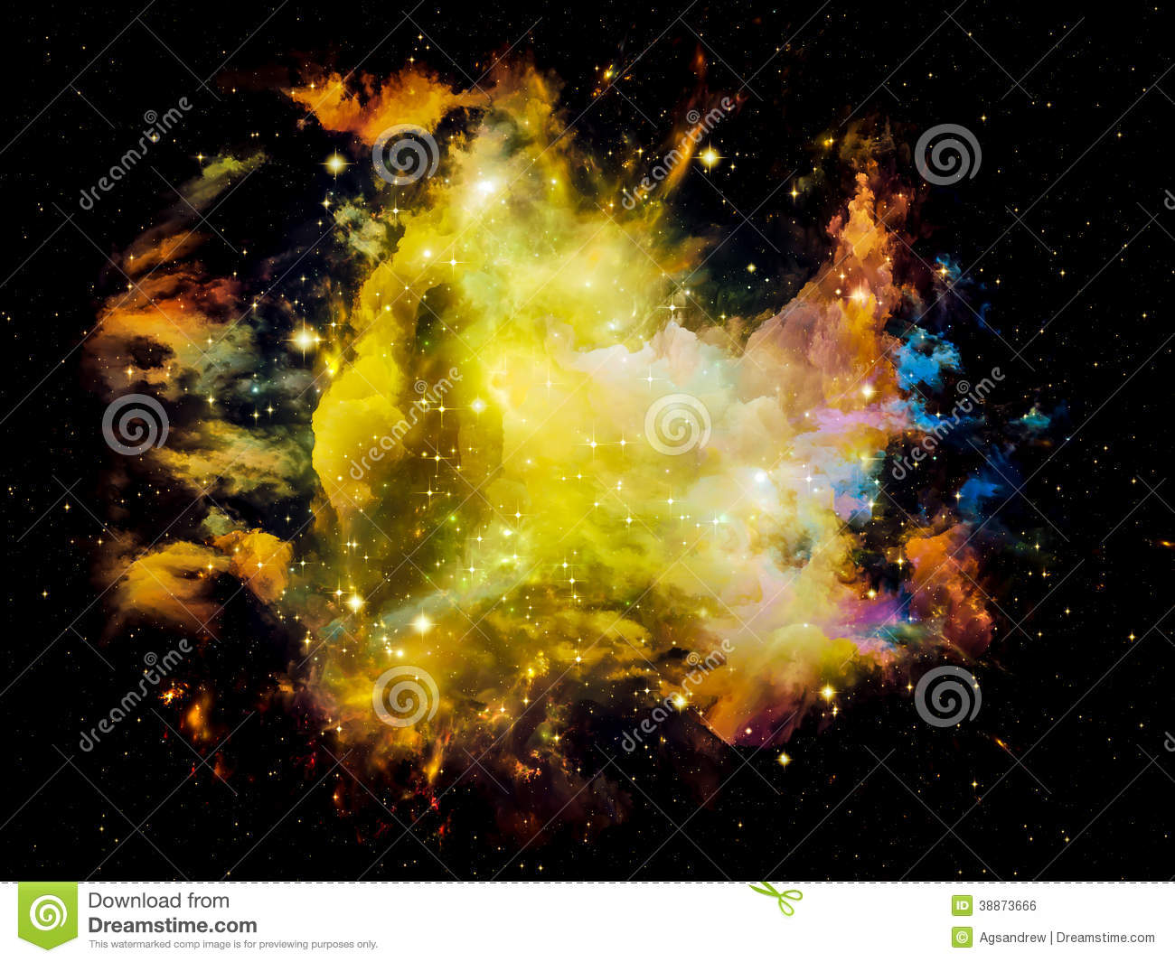 Royalty Free Stock Image Fractal Nebula Universe Not Enough Series Com...
