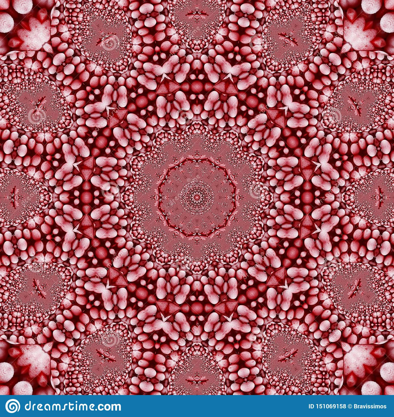 Fractal patroon abstract behang als achtergrond 3d