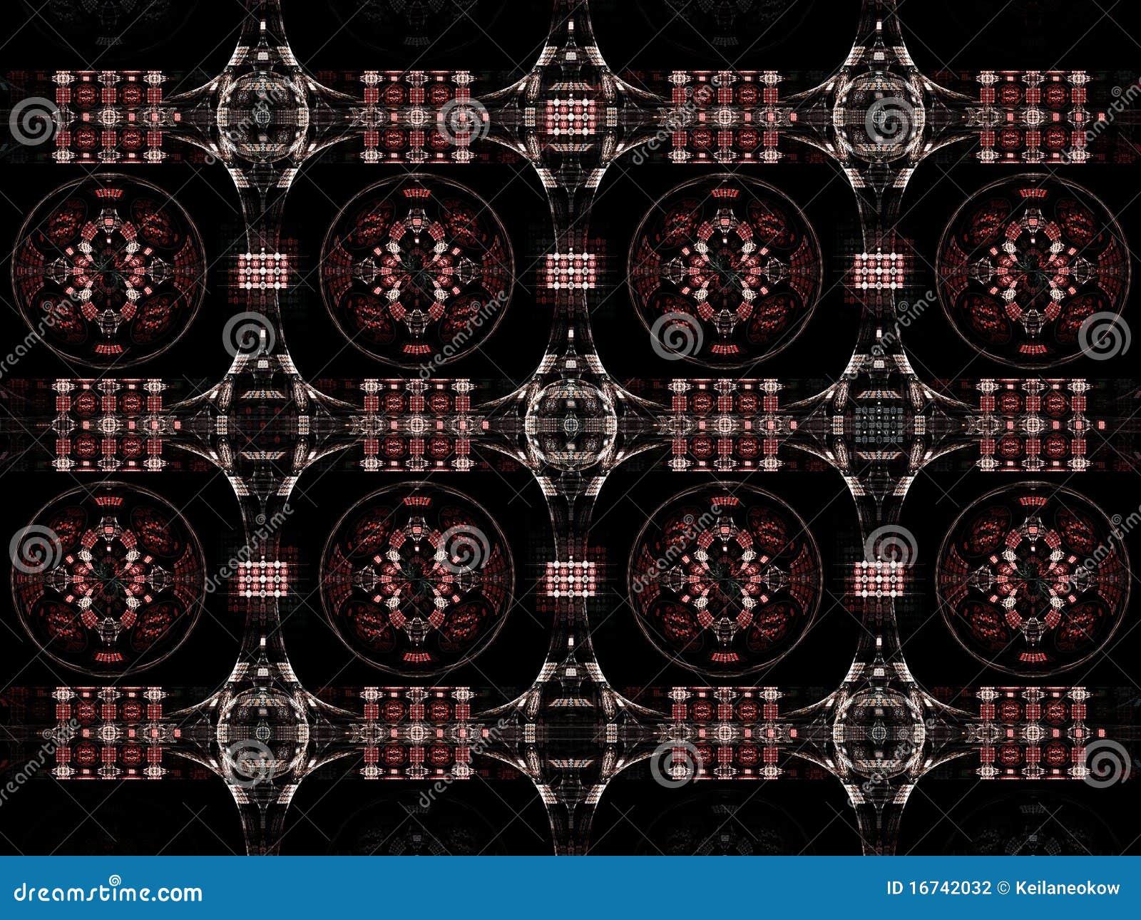 illustration fractal background clocks - photo #36