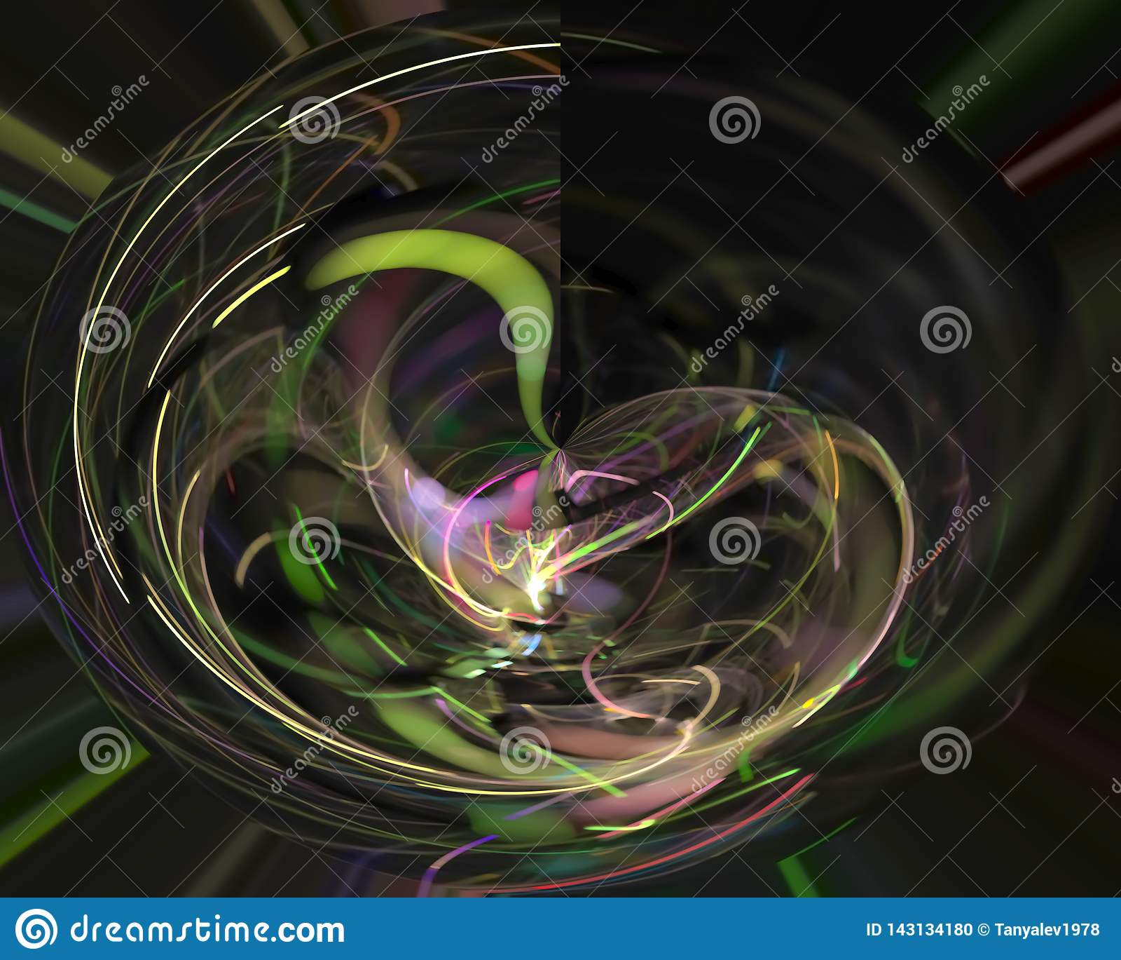 Fractale numérique abstraite créative, artistique futuriste d élément décoratif de calibre de flamme, élégance, dynamique