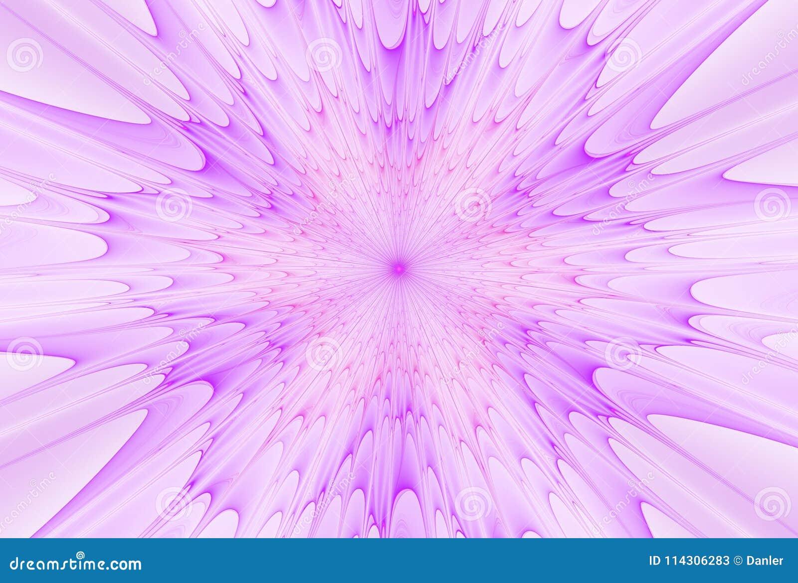 Fractalexplosionstjärna med glans och linjer