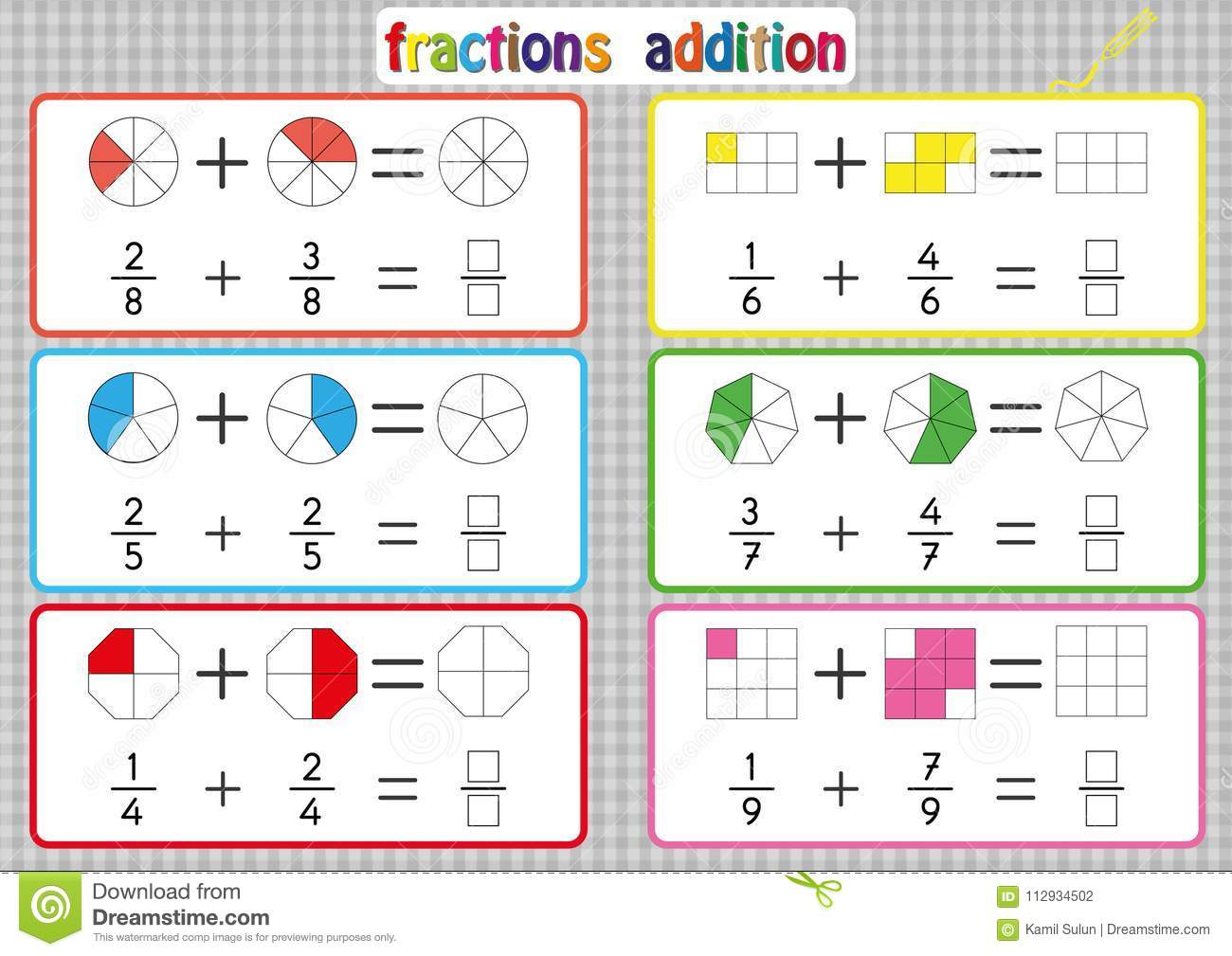 It's just a picture of Printable Fractions Games for 3rd grade