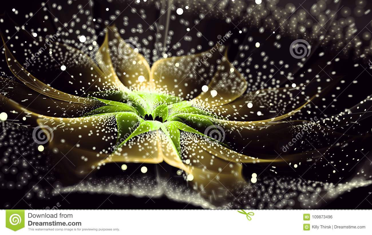 Thousand petal Flower Fractal Art