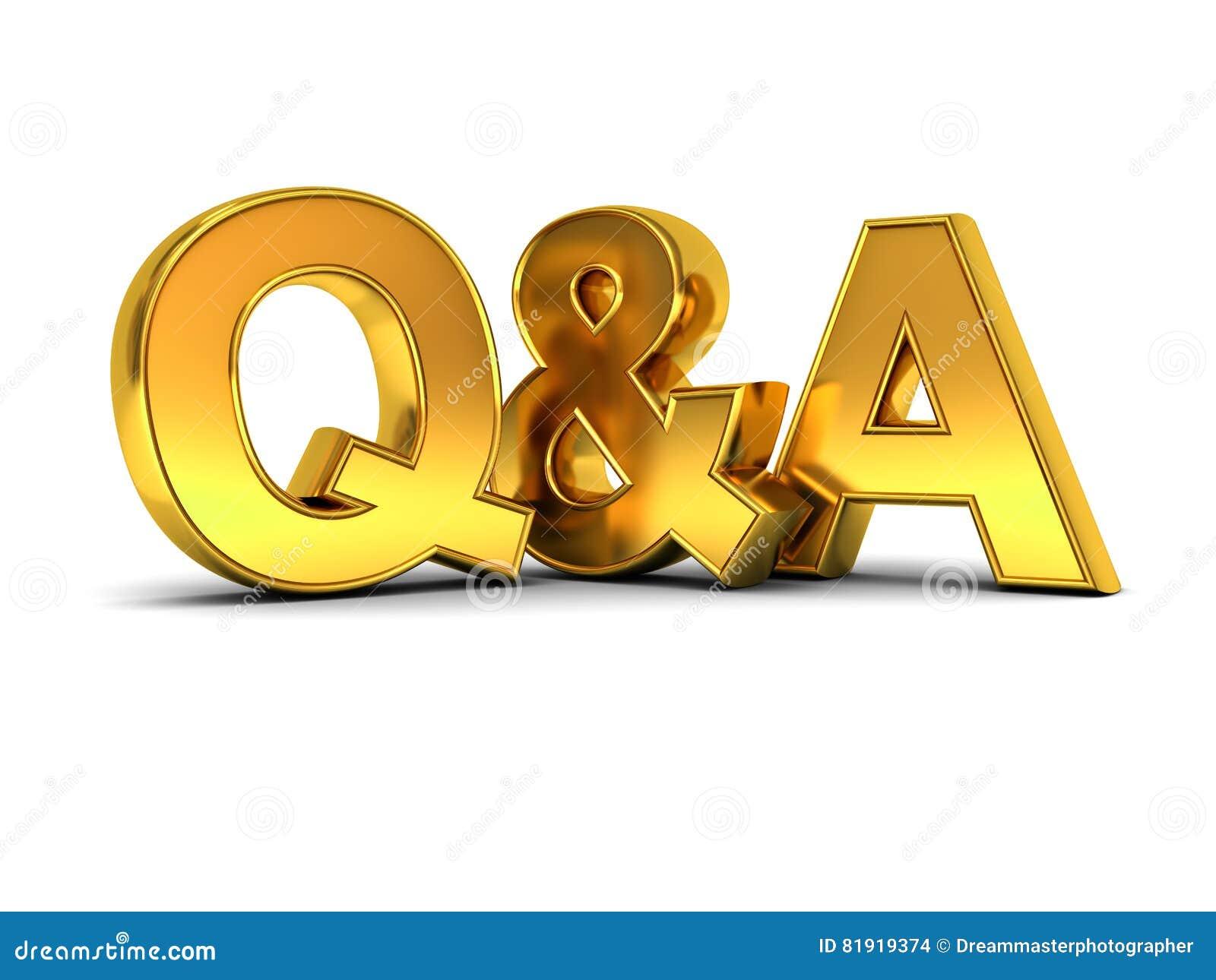 Frage und Antworten-Konzeptgold Q und a-Text
