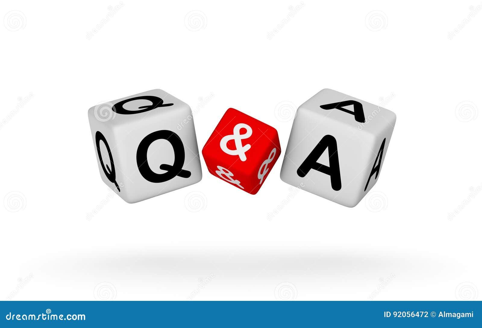 Frage und Antworten-Zeichen