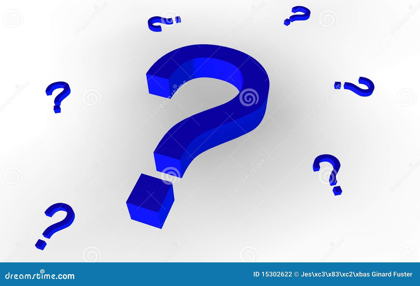 Fragezeichen (blau)