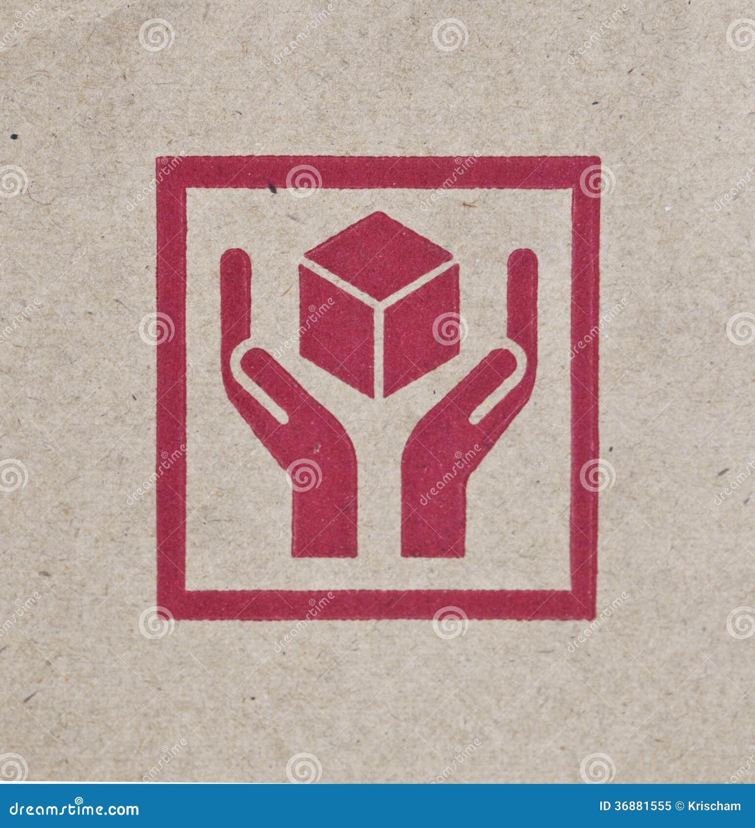 Download Fragile immagine stock. Immagine di rosso, carta, merce - 36881555
