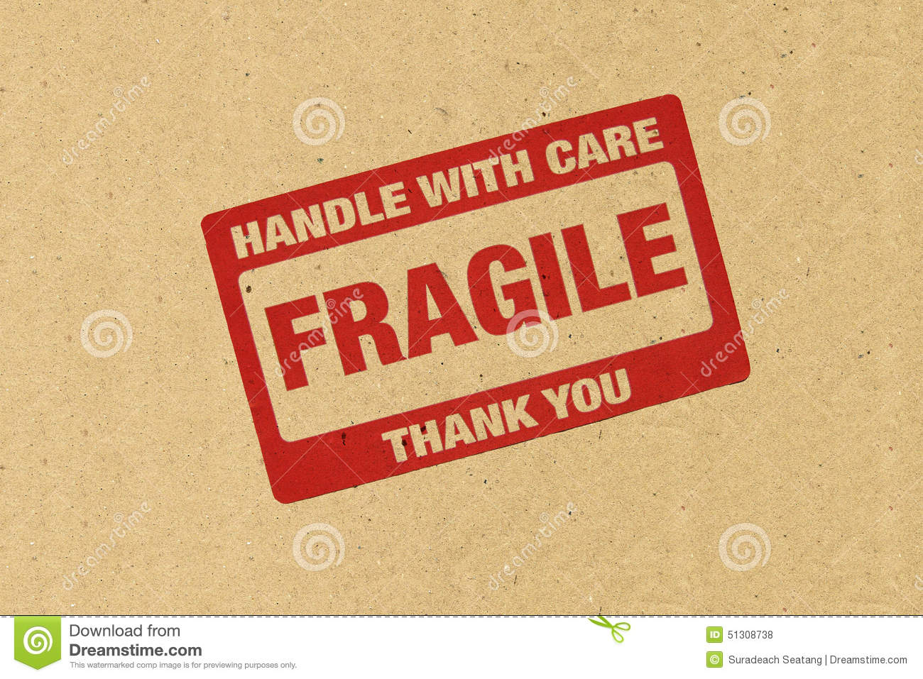 Fragile Logo Stock Photo - Image: 51308738