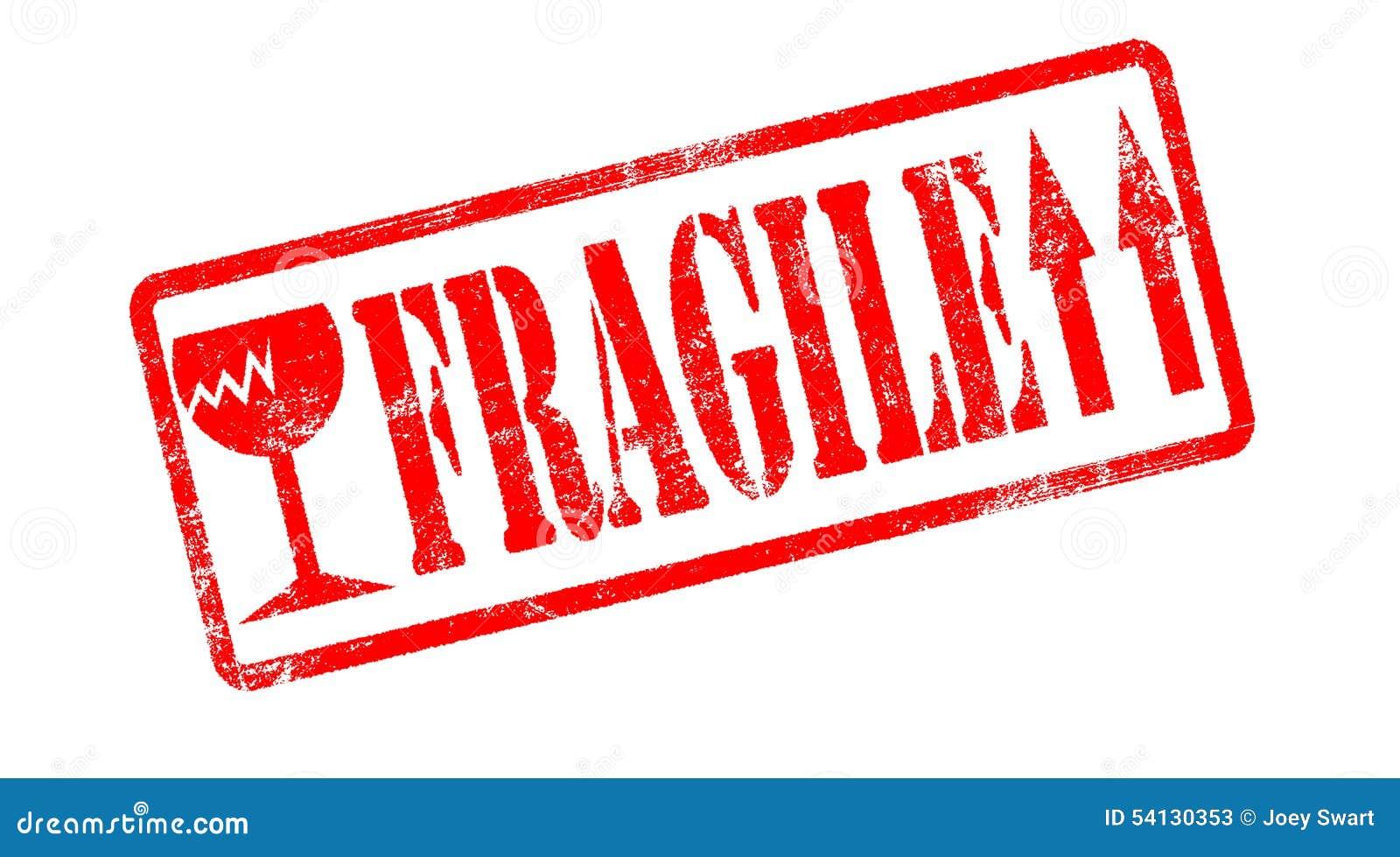 Fragile Stamp. Stock Illustration - Image: 54130353