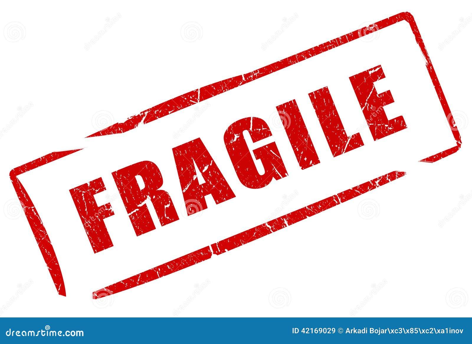 Fragile Stamp Stock Illustration - Image: 42169029