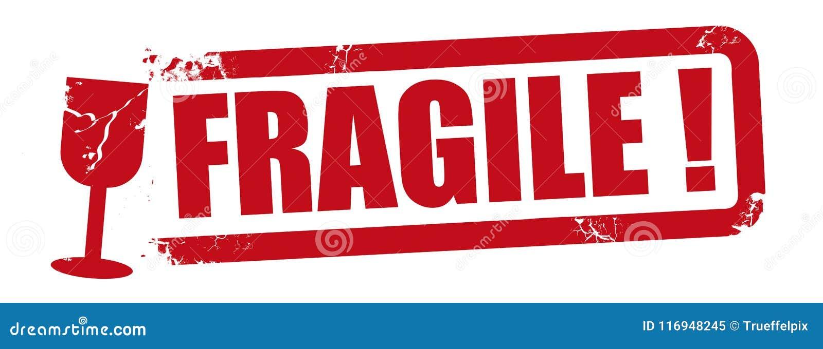 Fragile Stamp Red Vector Illustration Stock Vector ...