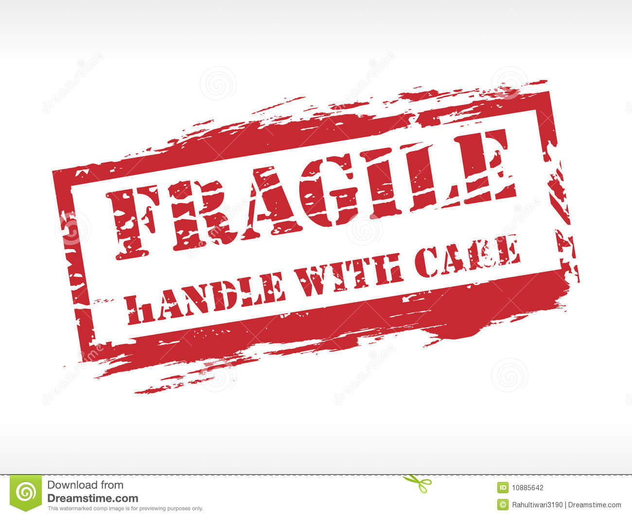 Fragile Stamp Rubber Stamp Stock Photography - Image: 10885642