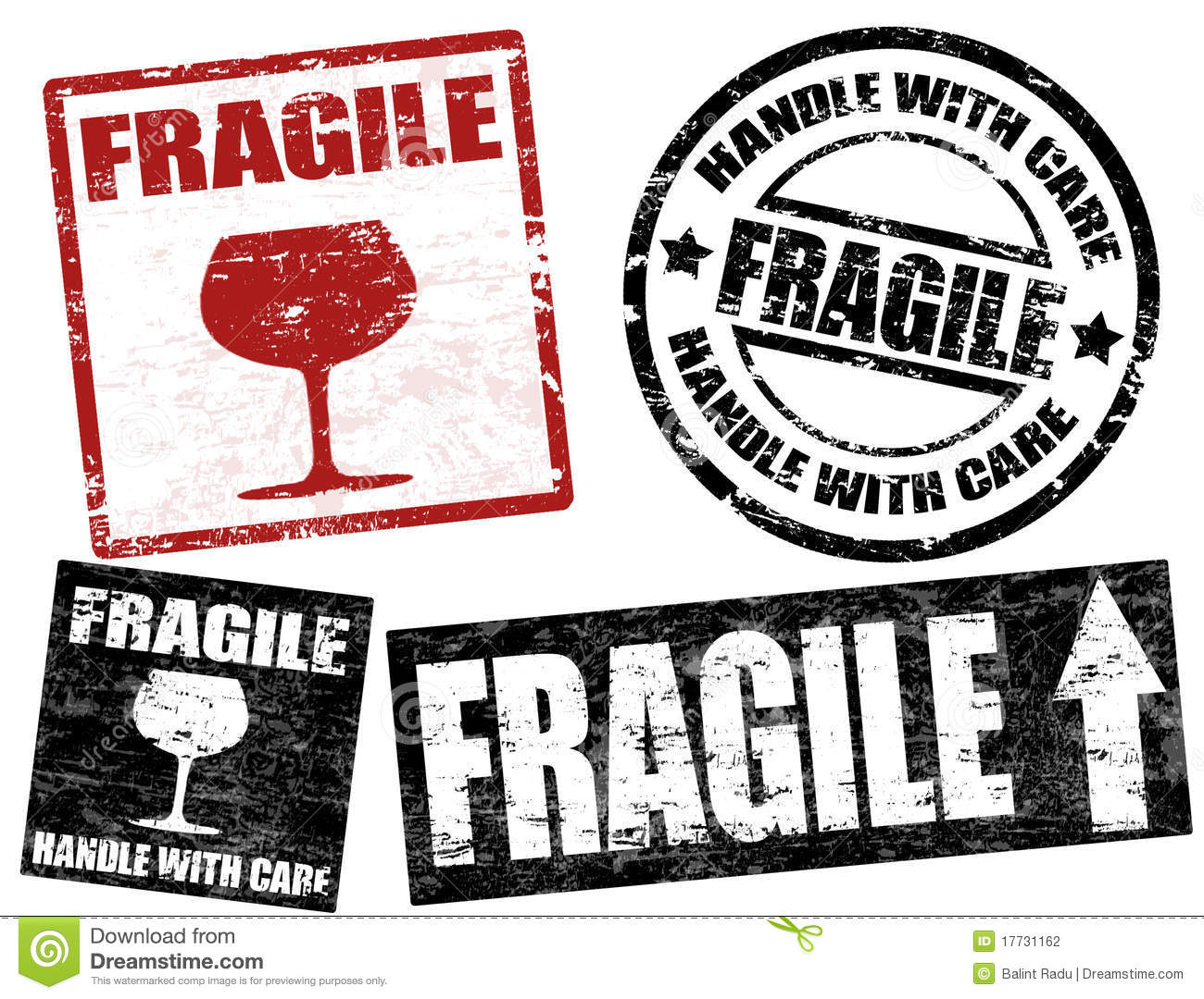 Fragile Stamps Stock Photography - Image: 17731162