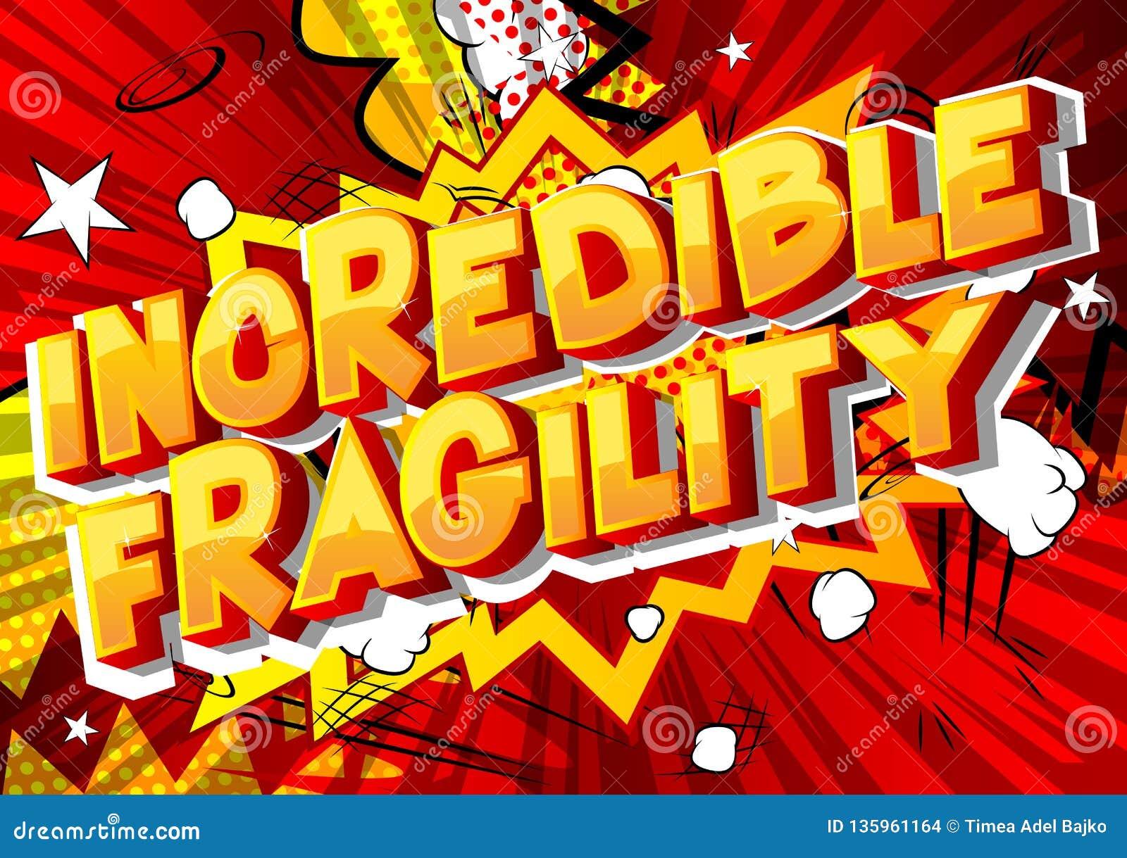 Fragilidad increíble - palabras del estilo del cómic