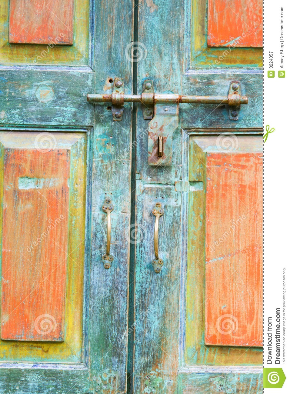 Fragment Of Antique Doors Royalty Free Stock Photography