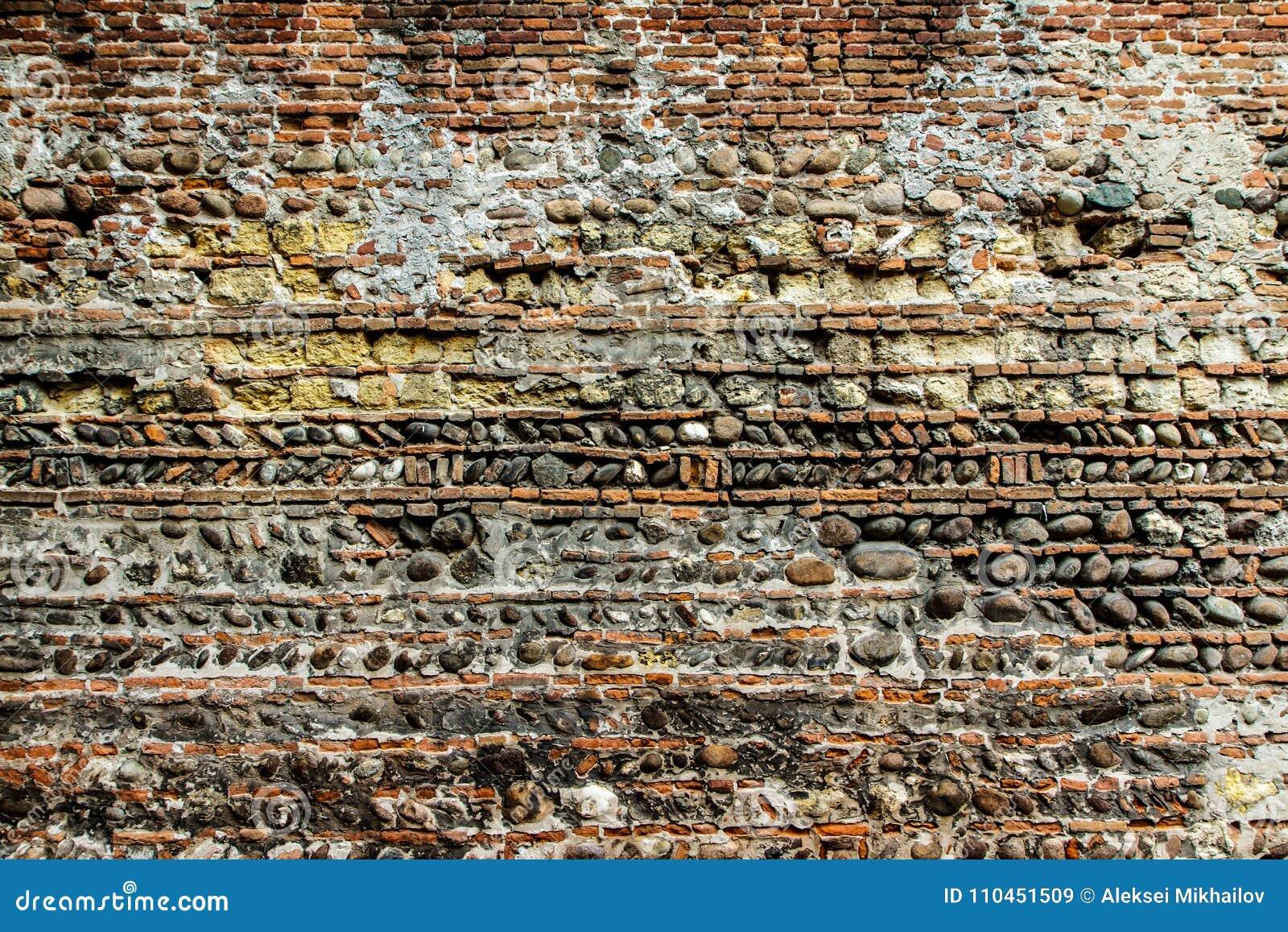 Fragment av en gammal stenvägg Bakgrund