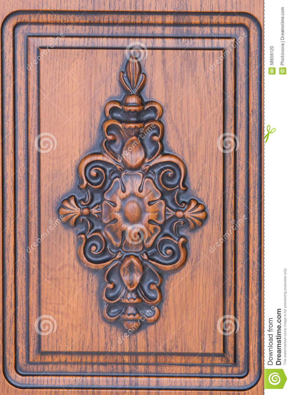 Fragment beautiful carved brown wooden door stock photo for Beautiful wooden doors picture collection