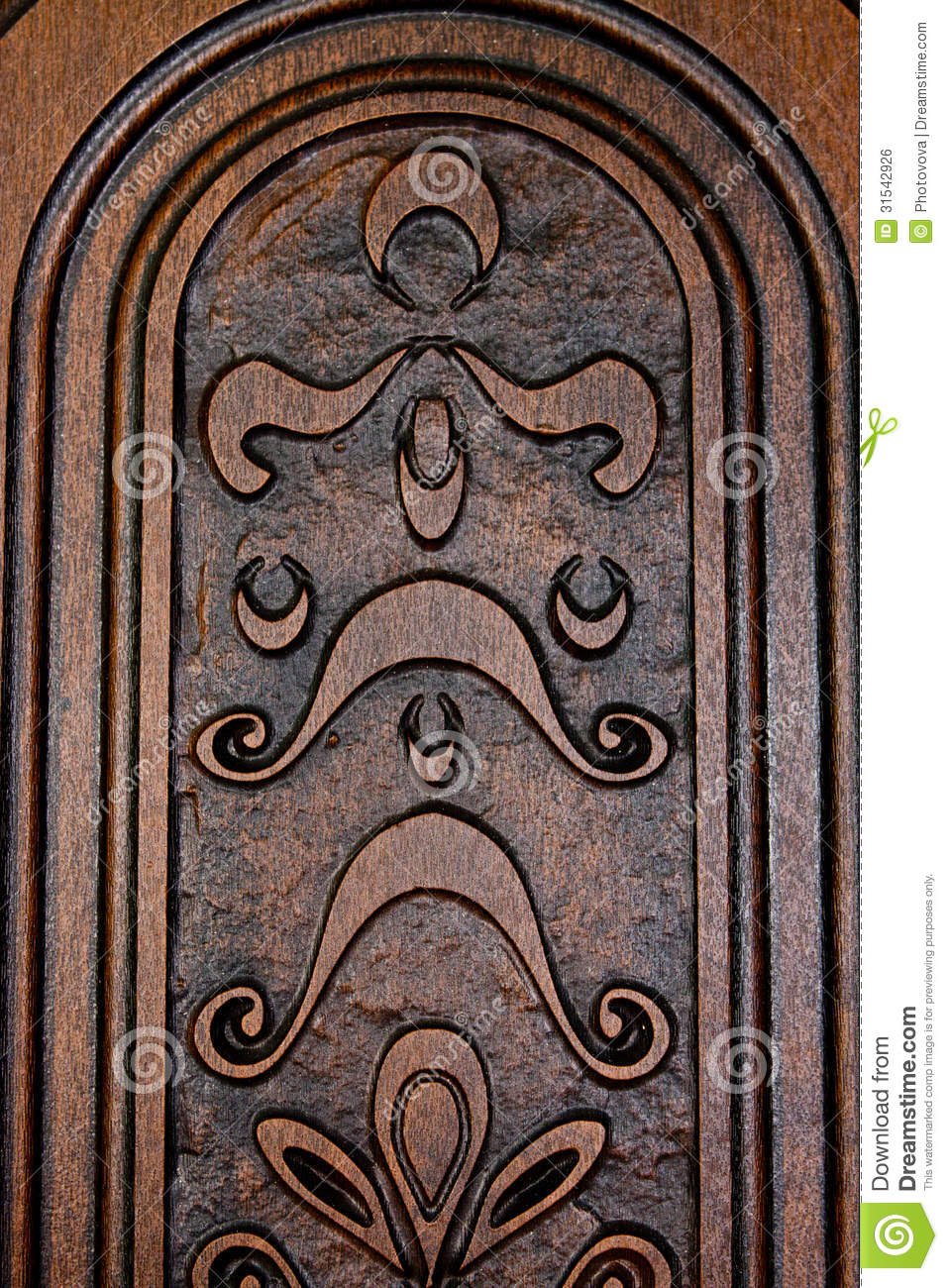 Fragment Brown Wooden Door Stock Photo Image Of Handle