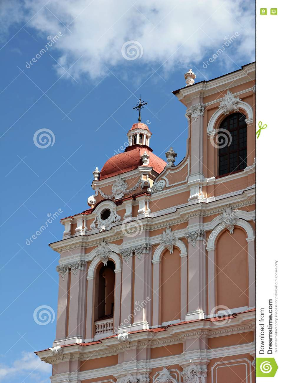 Fragment of catholic church in baroque style stock images for Baroque style church