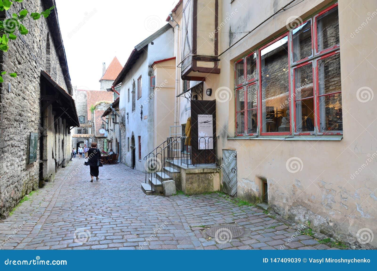 Fragment de la vieille ville - la partie antique de Tallinn, la capitale de l Estonie