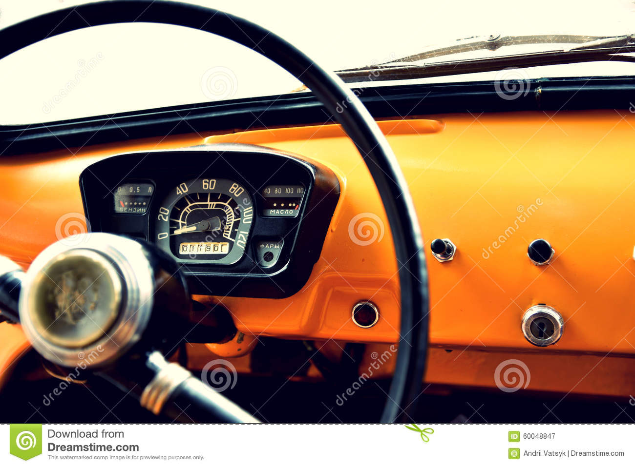 fragment of interior retro car with speedometer toggle switches stock image image of button. Black Bedroom Furniture Sets. Home Design Ideas