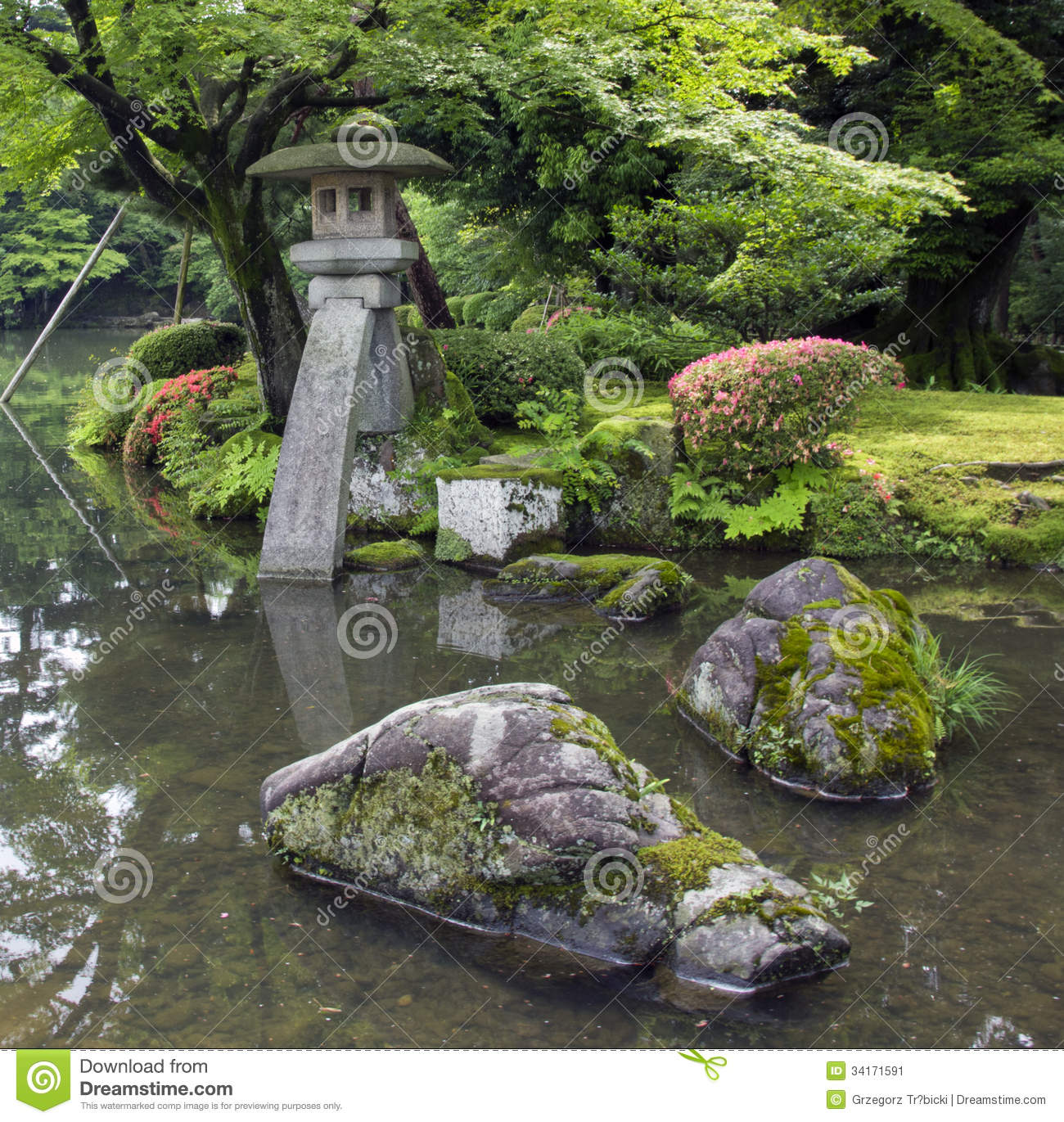Japanese Garden Stones Fabulous japanese garden stone lanterns workwithnaturefo fragment of japanese garden with stone lantern and big rocks covered fragment of japanese garden with workwithnaturefo