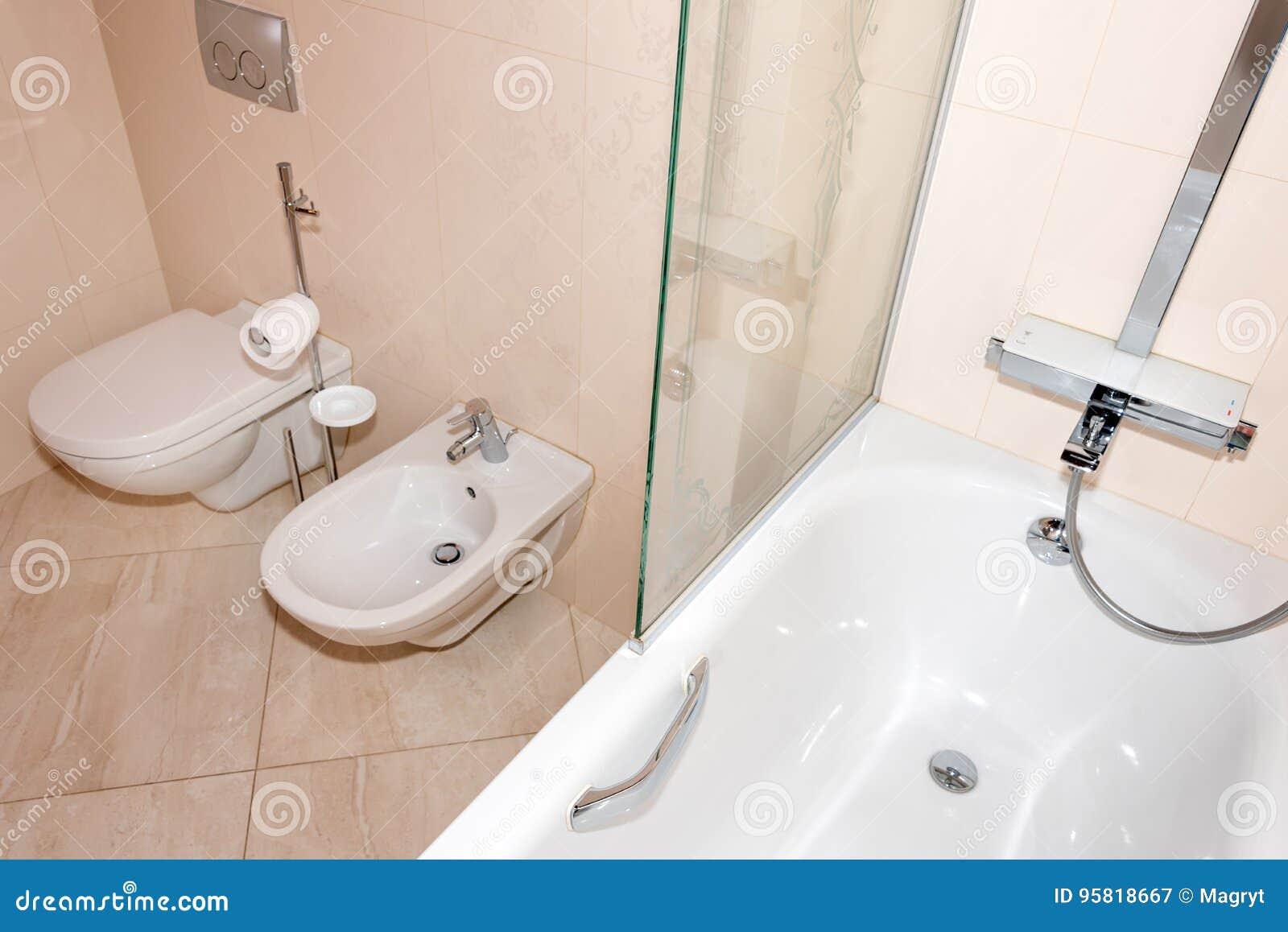 Fragment Of A Luxury Bathroom Exclusive Modern Bathroom With