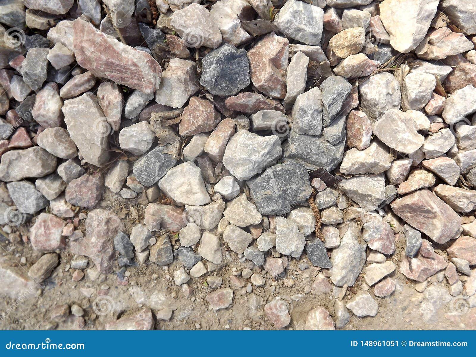 The road of granite stone.