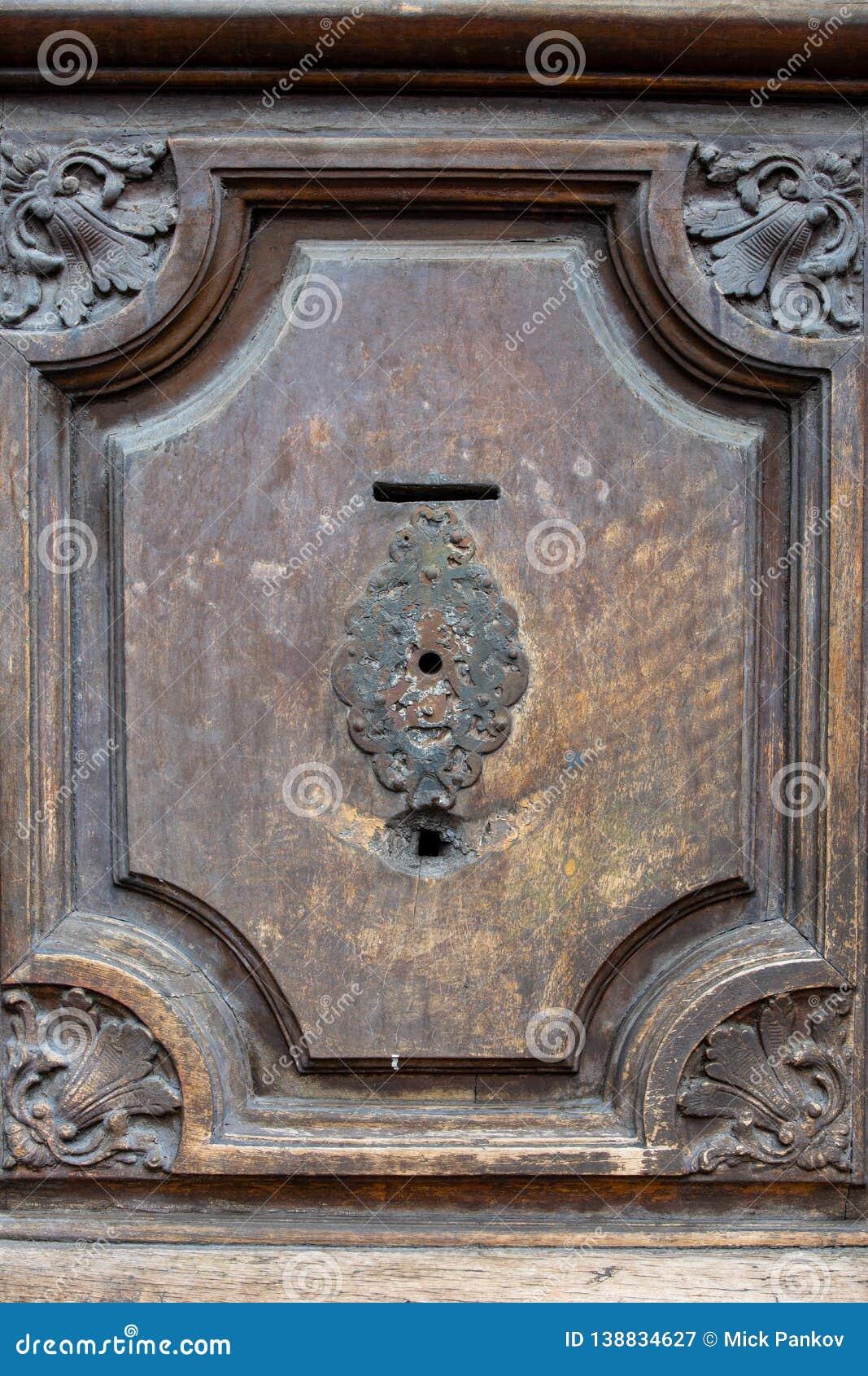 Fragment of the old door