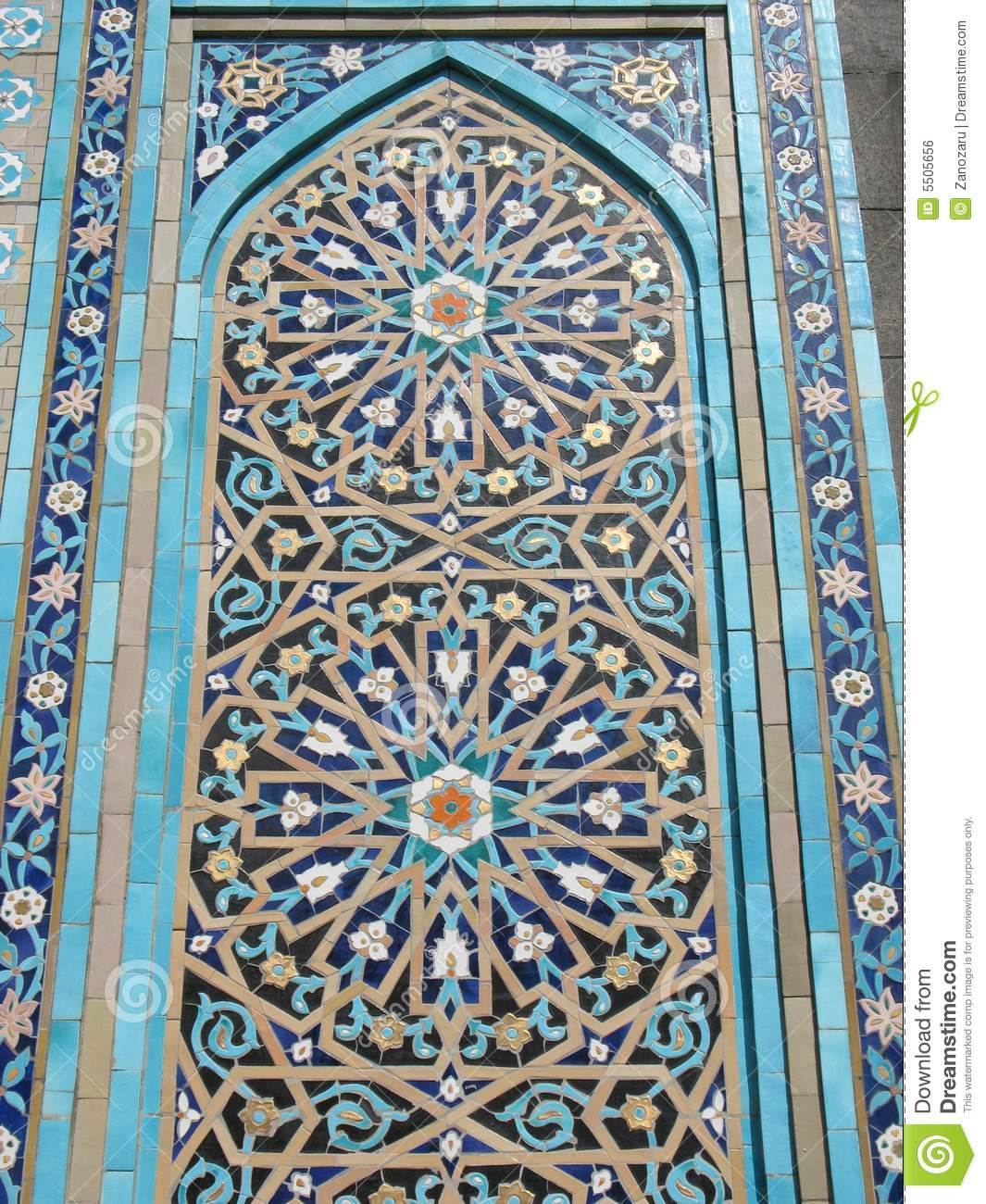 Fragment Of Ornament Of Mosque Royalty Free Stock Image ...