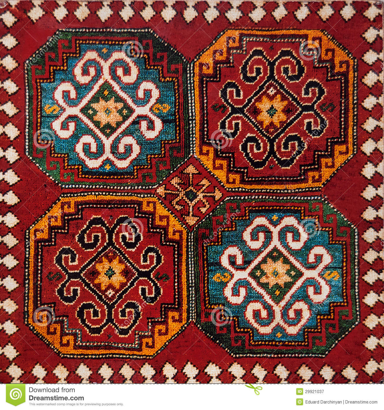 Armenian Ornament Stock Image Image Of Background Fabric