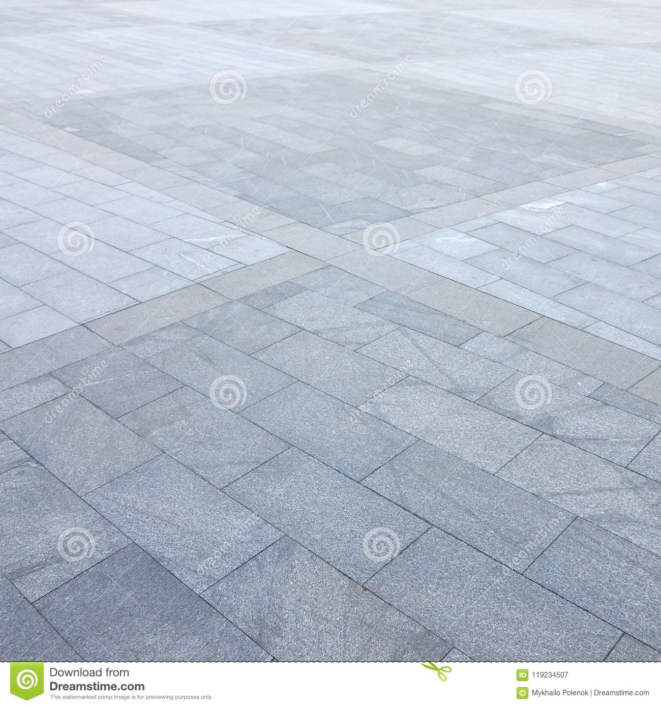 Fragment Of The Square Paved Of A Large Granite Tiles Stock Image
