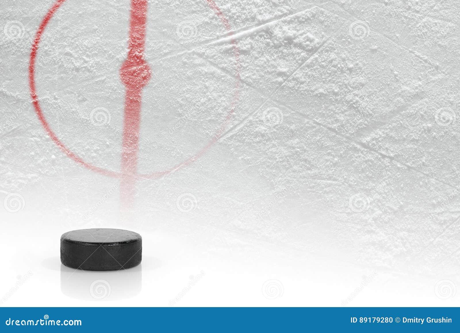 Fragment van de hockeygrond met de puck