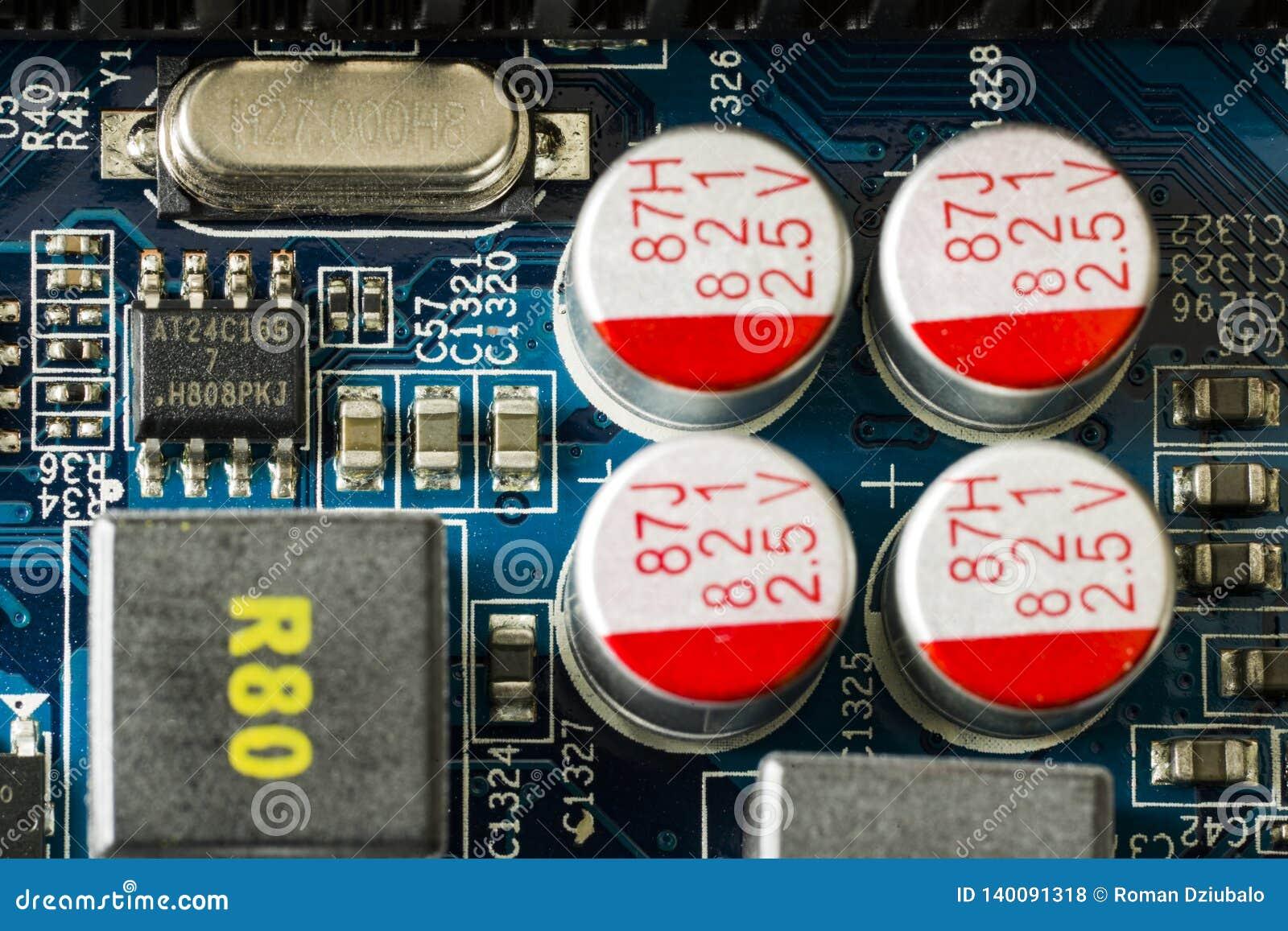 Fragment van een computerraad De mening vanaf de bovenkant Sluit omhoog