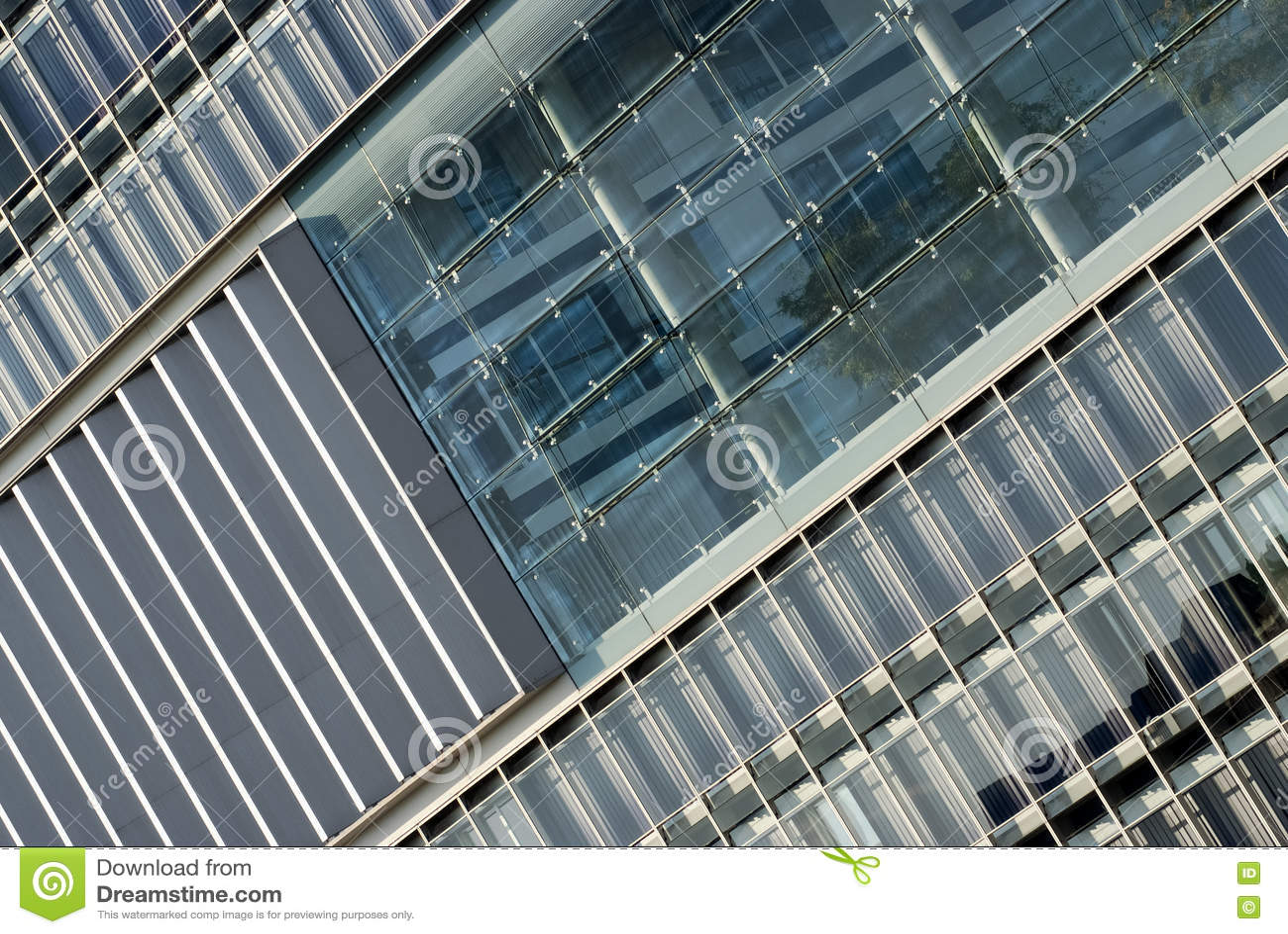 Fragment van een modern gebouw het moderne ontwerp van de