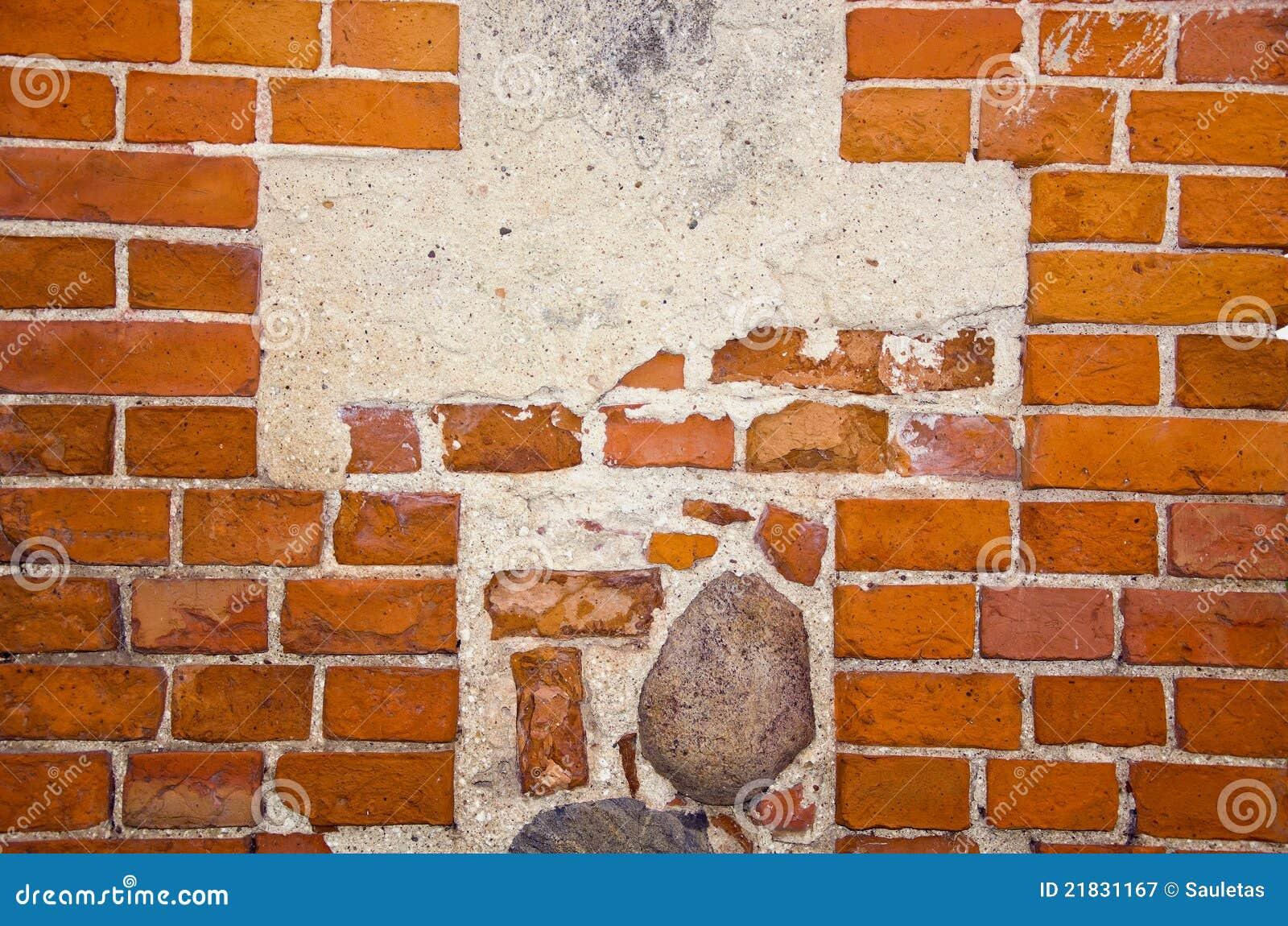 Fragment van oude rode bakstenen muur met stenen stock afbeelding afbeelding 21831167 - Rode bakstenen lounge ...