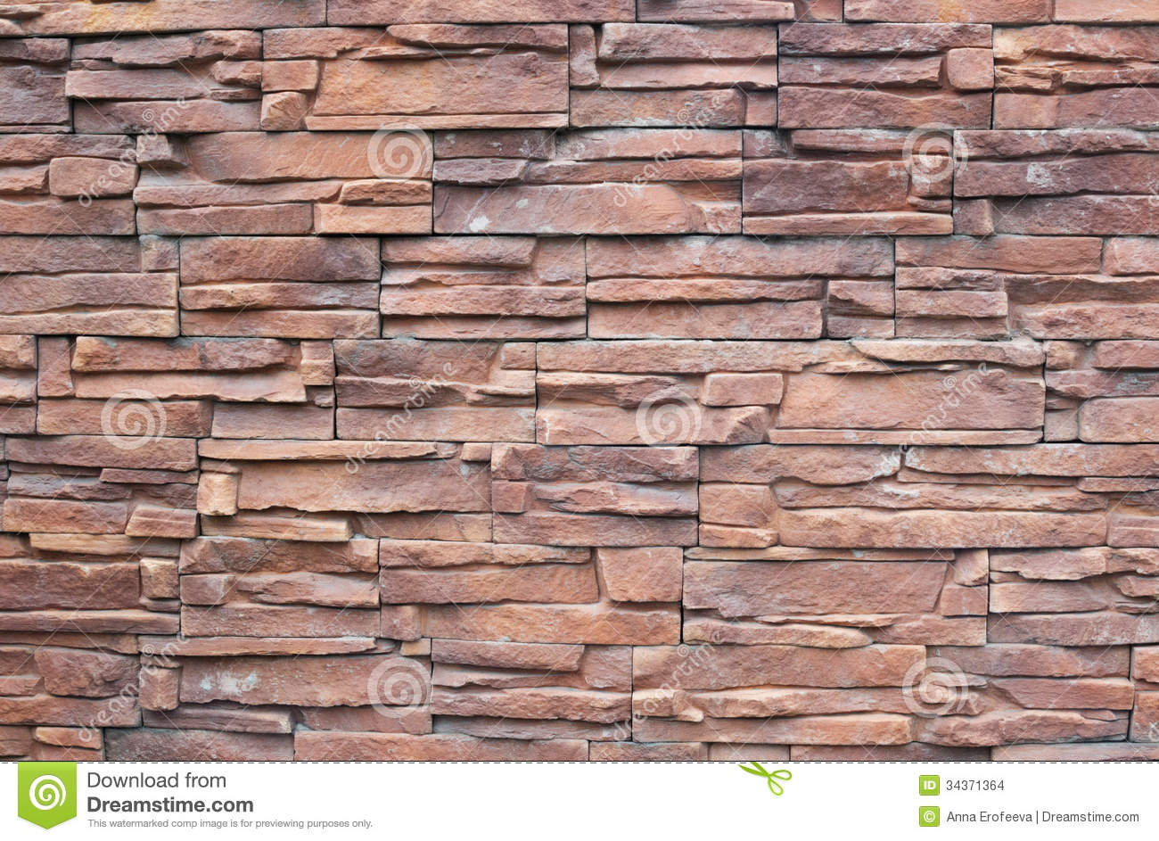 Fancy Wall Stones : Fragment of wall decorative stone stock photo image