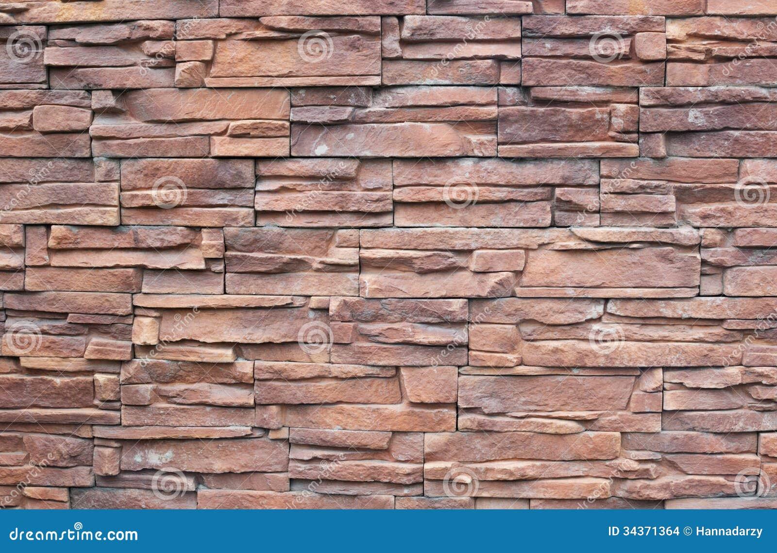 Decorative Wall Stone : Fragment of wall decorative stone stock photo image