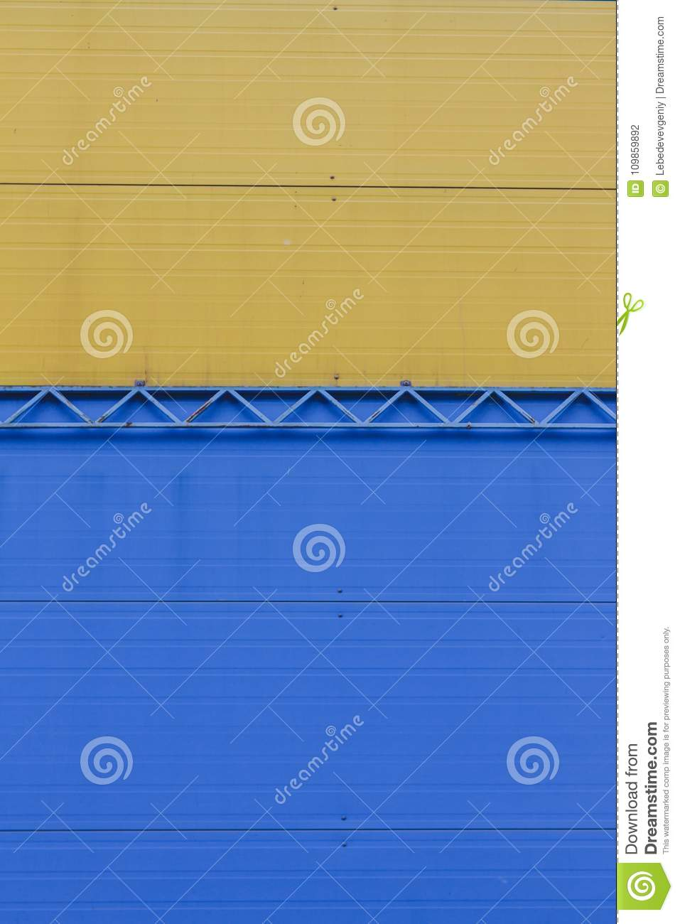 A Fragment Of A Wall Of Iron Sheets Stock Photo - Image of industry ...
