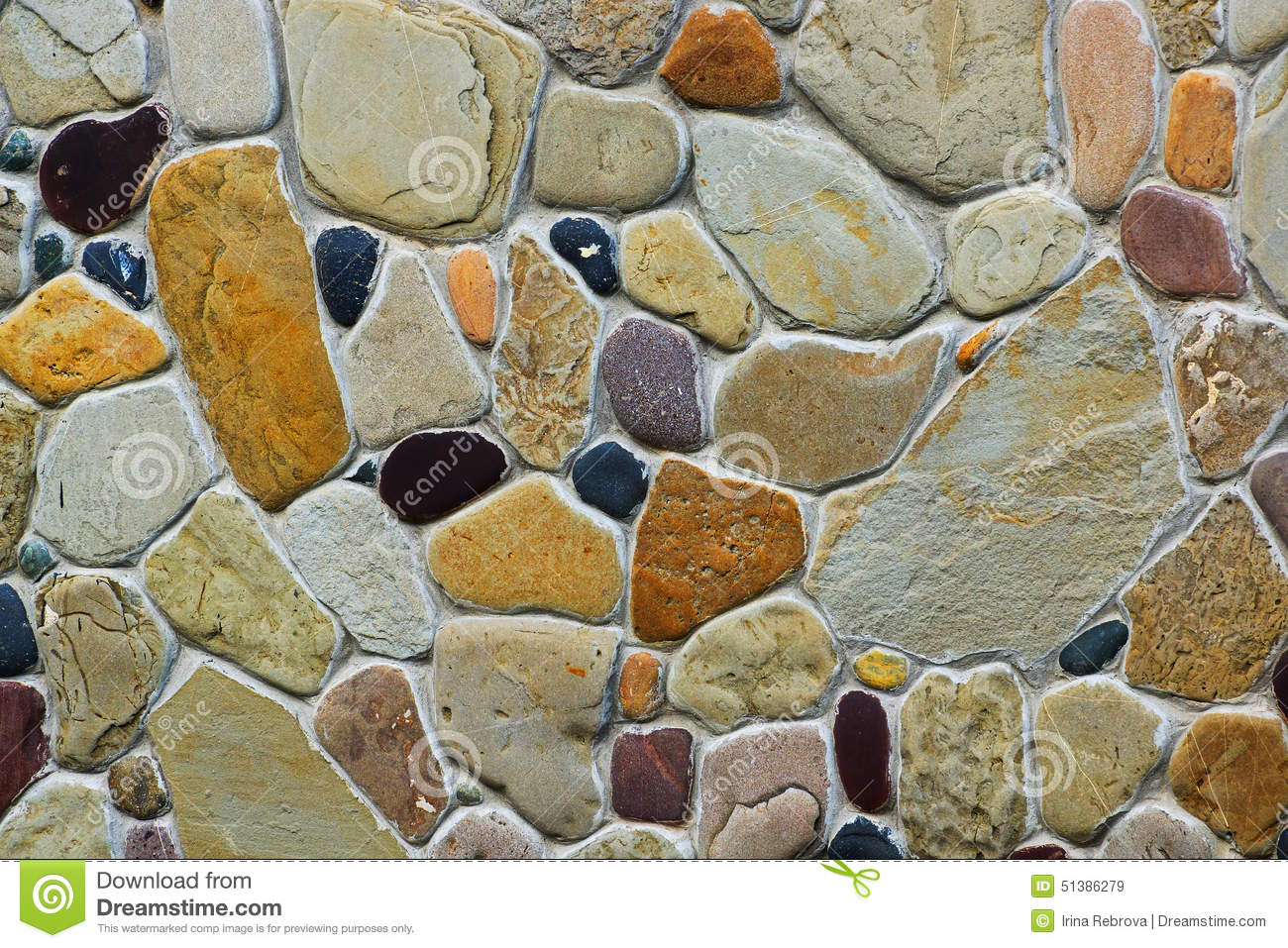 Fragment Of The Wall Of The Various Types Of Stone Stock Image ...