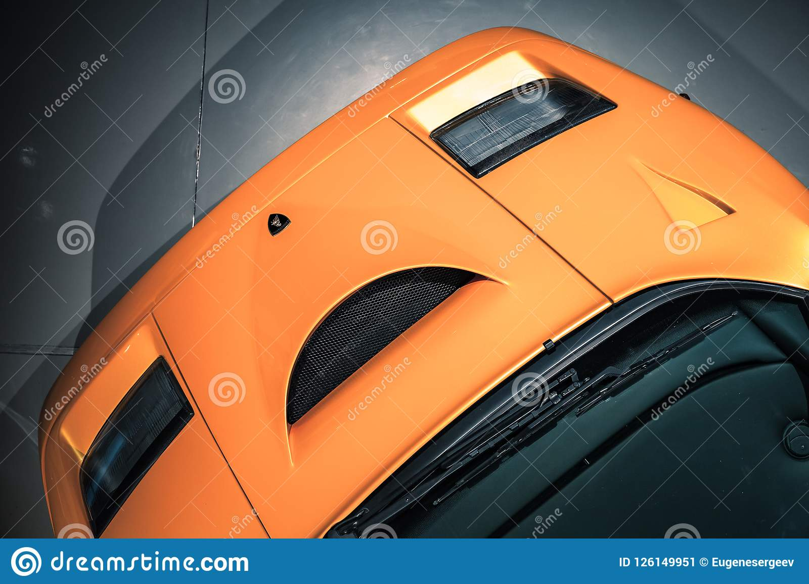 Fragment Of Yellow Lamborghini Diablo Gt Editorial Photo Image Of