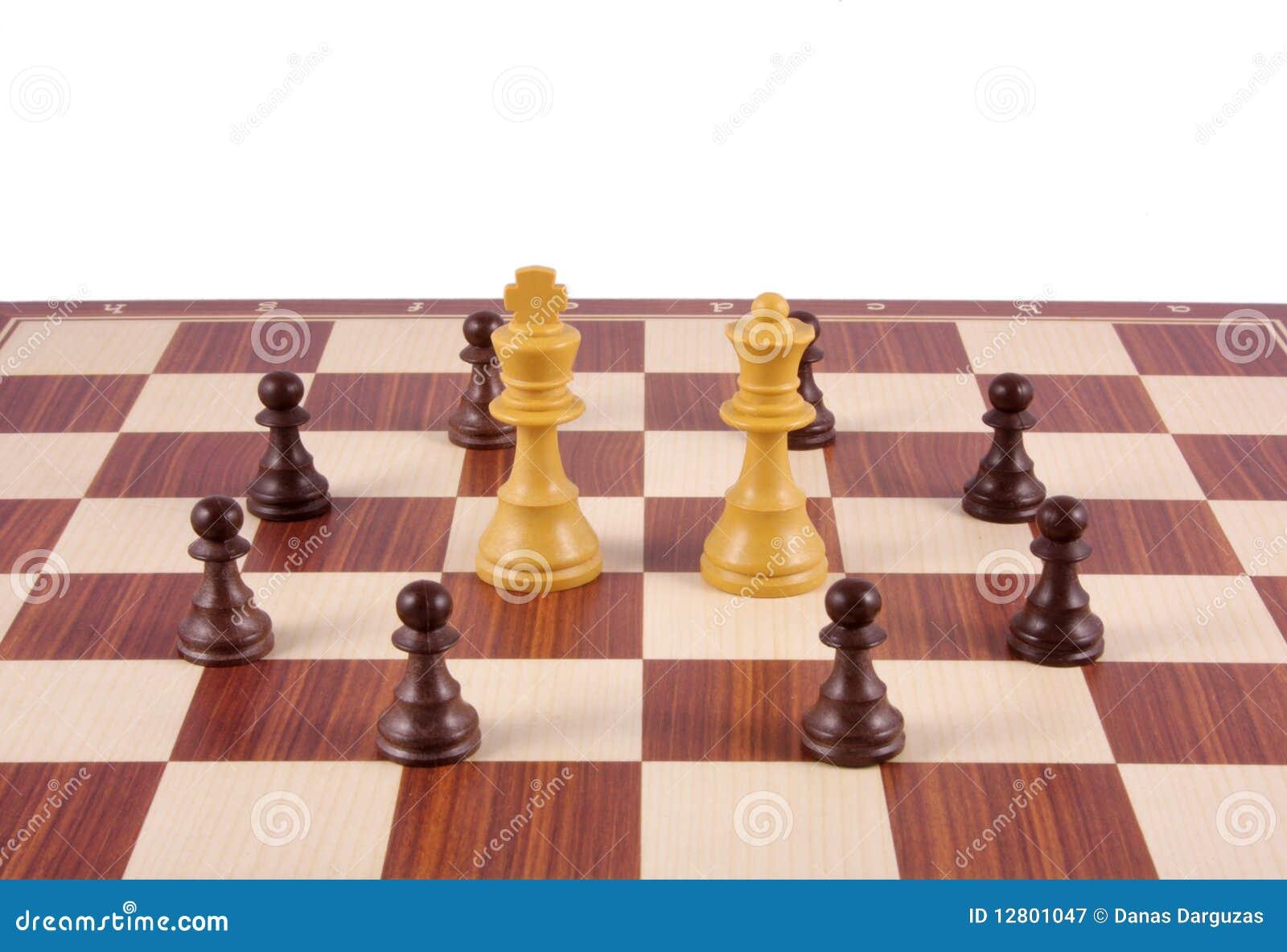 Fragmento da placa de xadrez