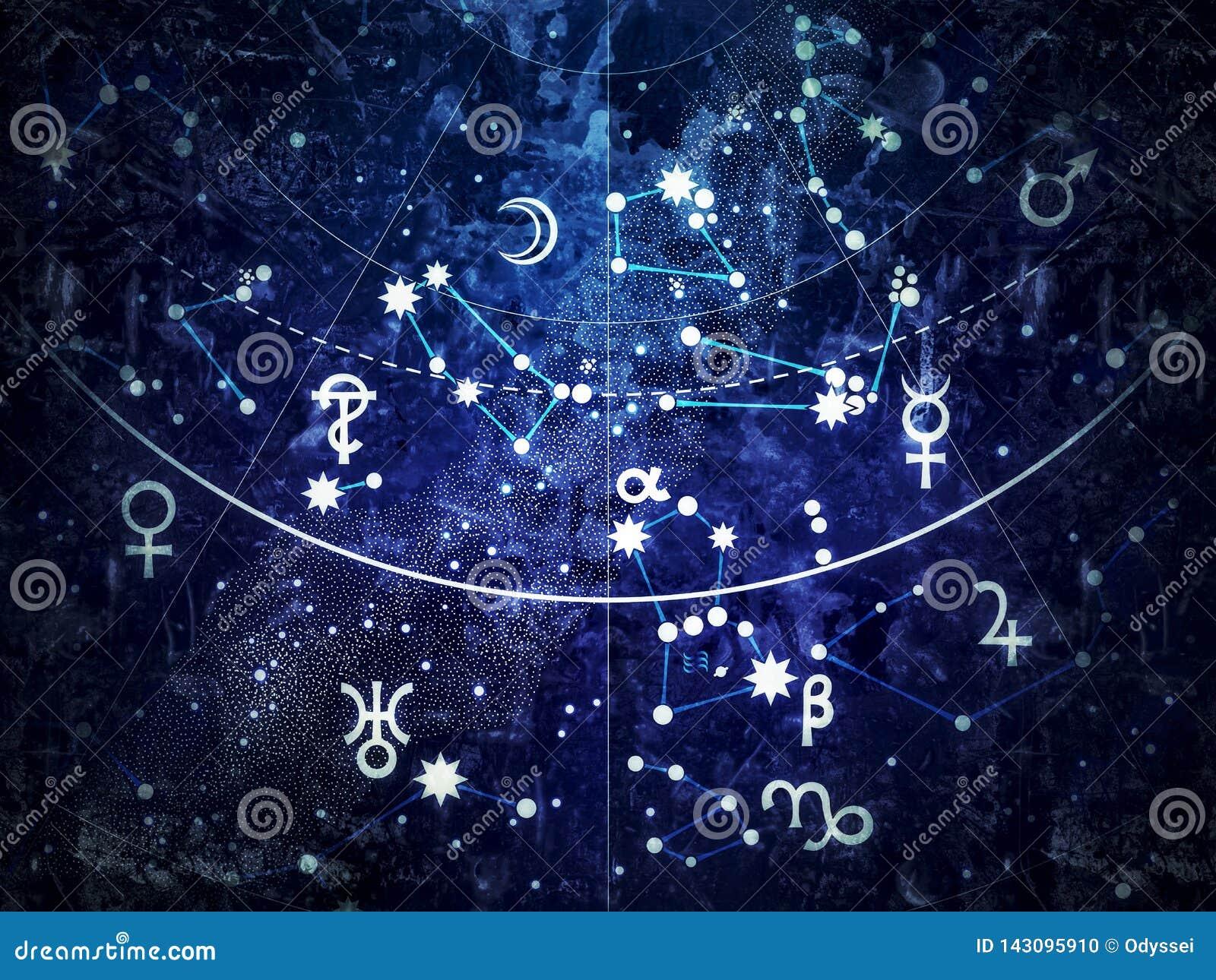 Fragmento de Celestial Atlas astronómico ( vintage remake) del grunge;