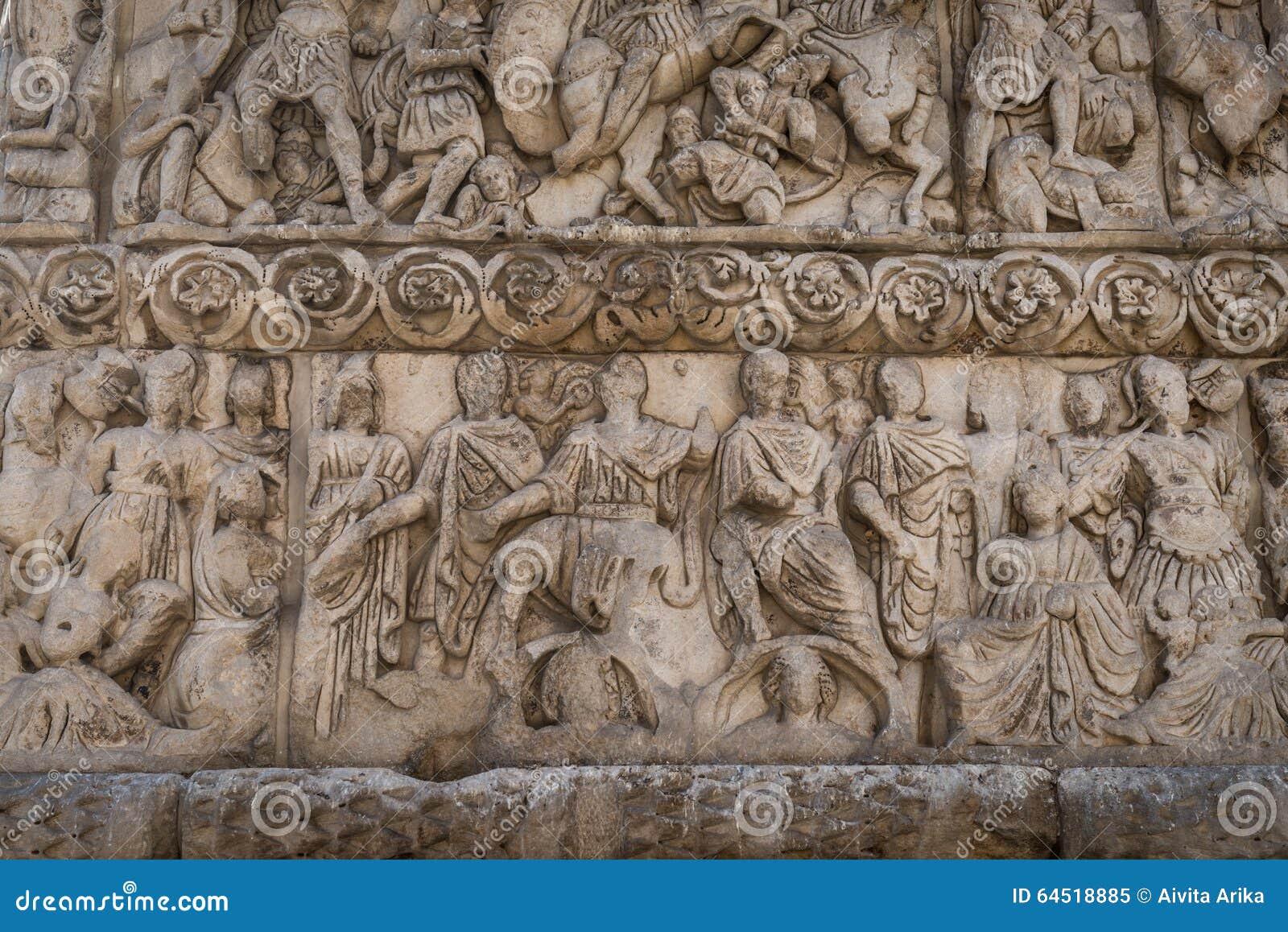 Fragmento del arco de Galerius y de la Rotonda
