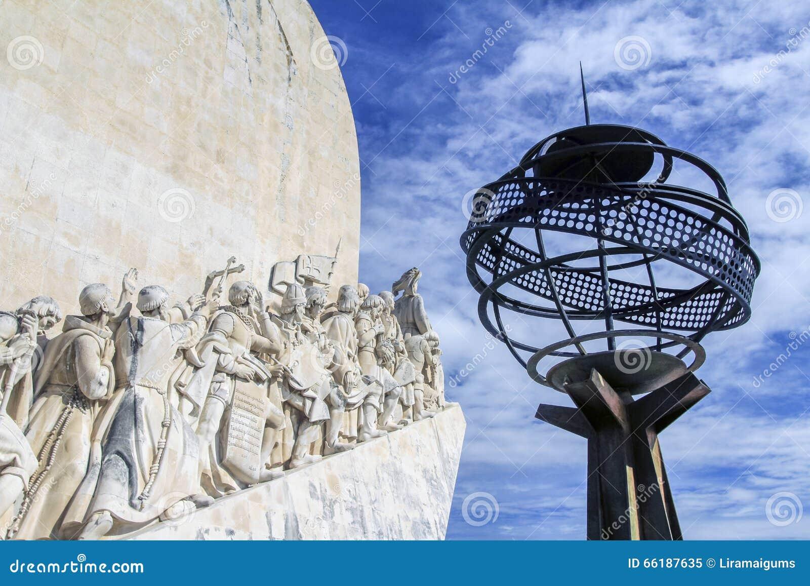 Fragmento do monumento às descobertas, Lisboa, Portugal