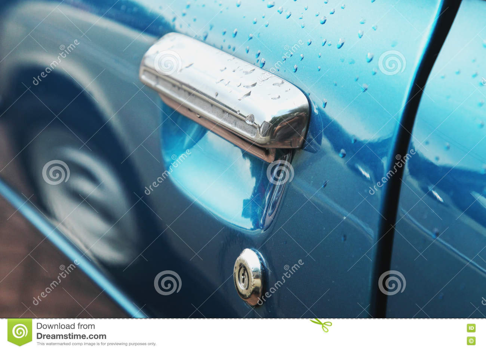 Fragmento retro do carro