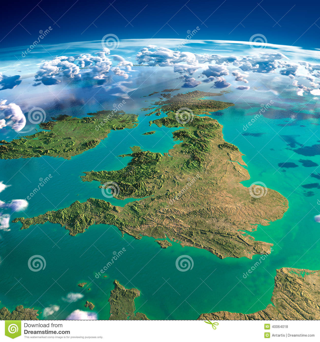 fragments of the planet earth  united kingdom and ireland stock illustration