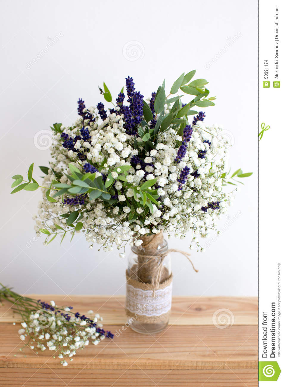 Bouquet of fragrant herbs fennel and parsley on a