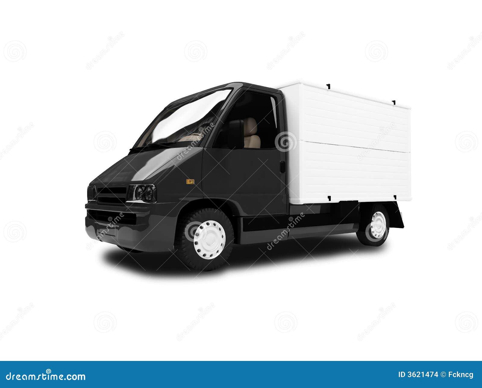 Framdel isolerad skåpbil sikt white