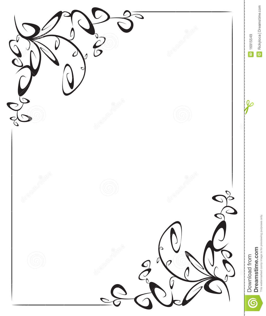 . Frame With 2 Corner Decoration Stock Vector   Illustration of flakes